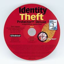 Broderbund Identity Theft Protector SE Deluxe software PC CD-ROM Win 98/2000/XP
