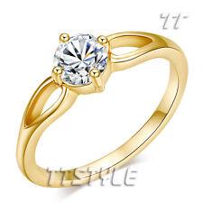 TT 18K Gold Plated 0.5 Carat CZ Engagement Wedding Ring Size 5-7 (RF56)