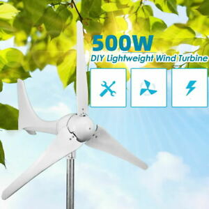 500W Wind Turbine 3 Blades Generator Kit DC 12V Charger Controller Home Power