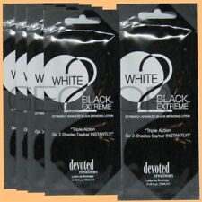 5 DEVOTED CREATIONS WHITE 2 BLACK EXTREME BRONZER PACKET TANNING LOTION SAMPLE