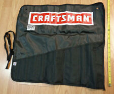 USA Made - CRAFTSMAN 10 Pocket WRENCH TOOL ROLL PACK storage organizer bag pouch