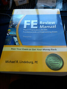[Brand New] FE Review Manual 3rd Ed - Michael Lindeburg - Engineering Exam Prep