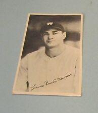 Vintage 1930's Bobo Newsom Baseball Photo Washington Senators Pitcher Sports