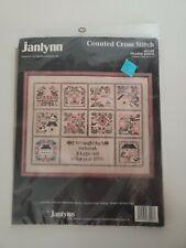Janlynn Counted Cross Stitch Sampler Prairie Birds #63-08 Vintage New 1989