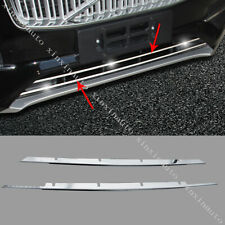 Stainless Front Bumper Lower Grille Strips Molding Trim For 2015-2019 Volvo XC90