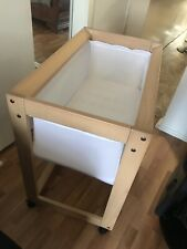 Boori Urbane Bassinet in Almond with mattress, excellent condition Plus Extras