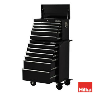 Hilka HD Pro+ 15-Drawer Combination Tool Chest Trolley