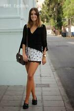 ZARA FLORAL SHORTS WITH LACE TRIM SIZE SMALL (B7) REF: 7543 130