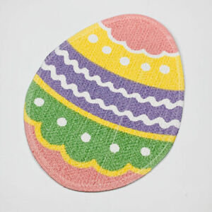 Colored Pastel Easter Egg Braided Single Cotton Placemat Centerpiece