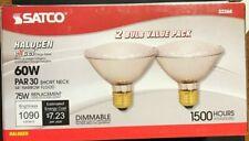 SATCO S2268 HALOGEN Lamp 60W Bulb PAR 30 Short 120V 34 DEGREE NARROW- Pick qty
