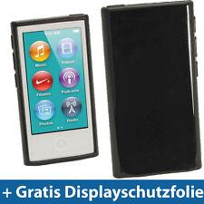 Schwarz Etui TPU für Neu Apple iPod Nano 7. Gen Generation 7G 16GB Gel Tasche