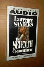 The Seventh Commandment! Lawrence Sanders! 2 Cassettes! Sealed! New!+NR