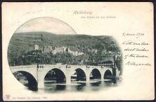 Gruss Aus (type) Vintage Postcard Heidelberg, Christmas 1900. Free UK Postage