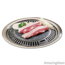 Korean Barbeque Stone Plate Stove top BBQ Steak Chicken Ribs Pork Belly Grill