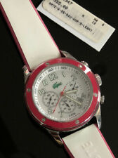 New Women's Lacoste Watch Mother Of Pearl 1052533 Chronograph Pink White- No Box