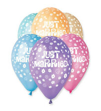 Just Married Latex Balloons x 10 PREMIUM QUALITY