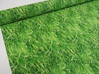 Green Grass Fabric *Digital* Cotton Fabric Curtain Upholstery Blinds Crafts