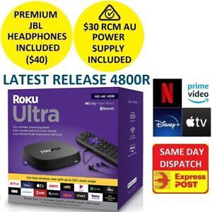 2020 Roku Ultra 4800R UHD HDR Player for NETFLIX PLEX AMAZON PRIME VIDEO DISNEY+
