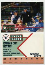 George Brett Limited Edition Prototype RBI Ballstreet Baseball Card