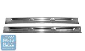 1971-74 MOPAR B Body Coupe Door Sill Plates Licensed And Made in the USA - Pair