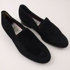 Munro Womens Suede Loafer Slip On Shoes Size 7.5W Wide Black Slip On