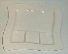 """Villeroy And Boch Grill Plate NEW WAVE 10.25"""" Divided Fondue"""