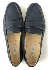 Gabriela Hearst Women Shoes Size 37.5 NIB Navy Brodie Flats Loafers