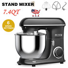 Fezen Electric Food Stand Mixer 7.4QT 6 Speed Kitchen Mixer Food Mixer Stainless