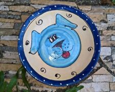 Gamelles et distributeurs bleus en céramique pour chien
