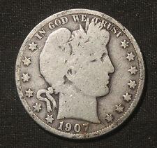 1907-O BARBER HALF DOLLAR 90% SILVER LOT 031054