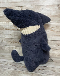 "Jellycat of London Toothy Blue Shark 12"" Plush Stuffed Animal Soft Toy"