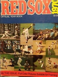 1970 Boston Red Sox Yearbook YAZ Conig, Rico, Boomer Good Condition