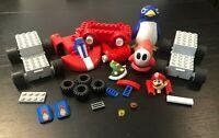 Completely Mixed Assorted Lot Mario Cart Lego K'Nex Shy Guy Penguin Motorized