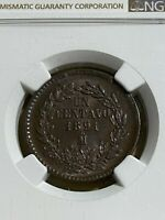 1891-MO Mexico 1 Centavo Graded MS 64 BN by NGC!!