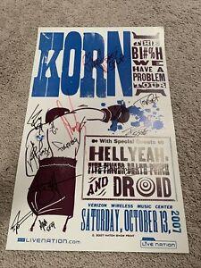 Autographed Korn Hellyeah 5 Finger concert poster Hatch Print 2007