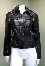 Blanc Noir Women's Black Faux Leather Jacket~Size M