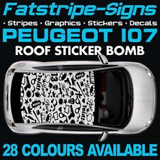 PEUGEOT 107 GRAPHICS STRIPES DECALS STICKERS VINYL GTI PUG 1.0 1.4 CITY CAR