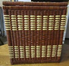 Vintage woven large hamper - lined - very clean - Vgc