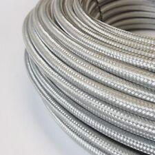 Textilkabel, Stoffkabel, Textilleitung, rund, silber 3x0,75mm² H03VV-F