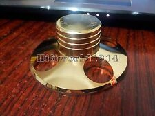 1x HiFi Soft Gold 240g Record Weight LP Disc Stabilizer Turntable Vinyl Clamp