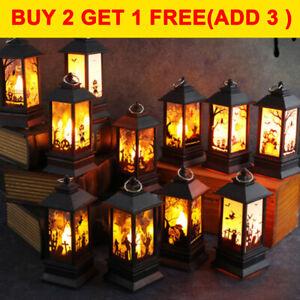 Halloween Vintage Castle Kerosene Lamp Candle Light Lantern Party Props Decor