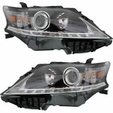 Set of 2 LH & RH Side Halogen Head Lamp Assembly Canada Built Fits Lexus RX350