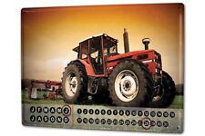 Perpetual Calendar Garage Motif  Tractor Tin Metal Magnetic