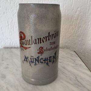Alter Brauereikrug Zum Salvatorkeller Paulanerbräu München Bierkrug  RARITÄT