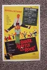 Shake Rattle & Rock Lobby Card Movie Poster Fats Domino - Joe Turner Choker Camb