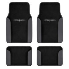 Tribal Tattoo Carpet Car Floor Mats for Front and Rear - Dark Gray/Black 4pc