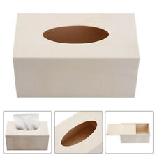 AU Unfinished Wood Tissue Box Holder Paper Cover Organizer DIY Craft Home AU!