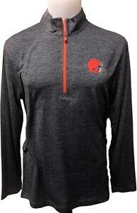 Cleveland Browns Men's Intimidating Performance 1/2 Zip Top Jacket - Charcoal