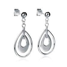 Fashion Droplets Stud Earring Women Beauty Accessories Sterling Silver Jewelry