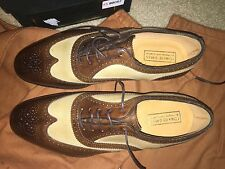 New Edward Green Shoes Oxford Made in UK 8 E USA 8.5 Wide Malvern Two Tone Brown